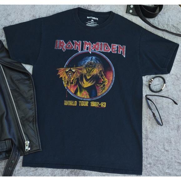 Iron Maiden T-shirt Eddie On Bass Men/'s Black